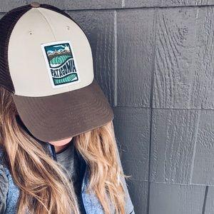 Patagonia Tan Cosmic Peaks LoPro Trucker Hat